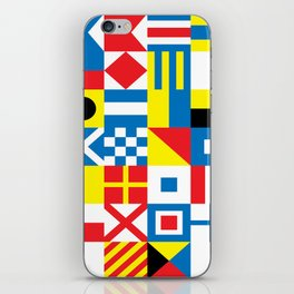 International Alphabetical Marine Signal Flags iPhone Skin