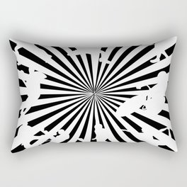 Sports figures in abstract background Rectangular Pillow