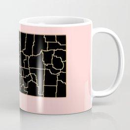 Montana map Coffee Mug
