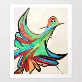 Aquarela bird Art Print