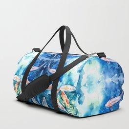 Koi Fish Watercolor by Julesofthsea Duffle Bag