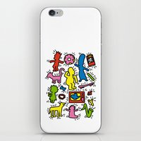 keith haring iPhone & iPod Skins featuring Haring - Simpsons by Krikoui