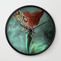 ariel Wall Clocks featuring Ariel by Laia™