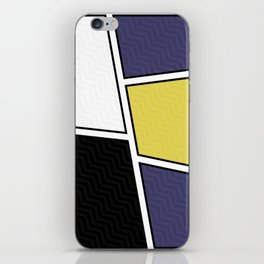 Abstract Geometric Waves Pattern iPhone Skin