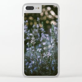 Spring Purple Clear iPhone Case