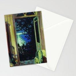 Moonlit Ocean on the Italian Mediterranean, Amalfi Coast Positano, Summer Night by Sergei Vinogradov Stationery Cards