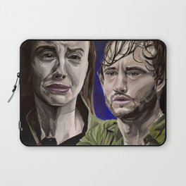 Abigail and Will, acrylic painting Laptop Sleeve