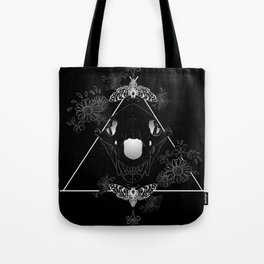Bear Skull And Deathheads Tote Bag