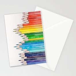 colored pencils Stationery Cards
