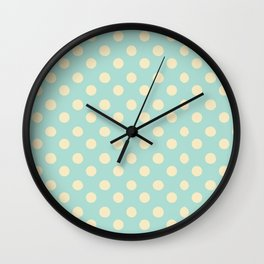 Dotted - Soft Blue Wall Clock