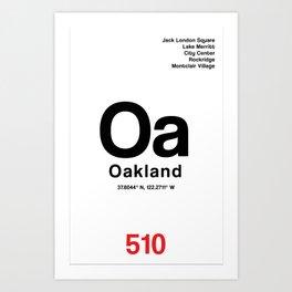 Oakland City Poster Art Print