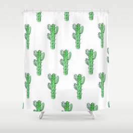 Saguaro Love II PATTERN Shower Curtain