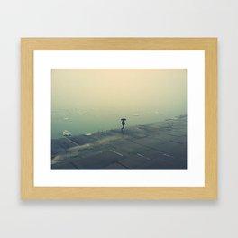 umbrella girl. Framed Art Print