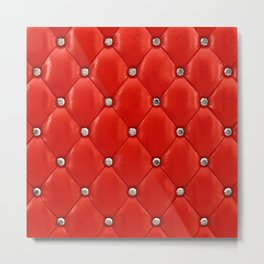 Red upholstery pattern Metal Print