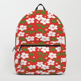 Japanese Shouchikubai Celebration Flower Plants Seamless Patterns Symbols Backpack