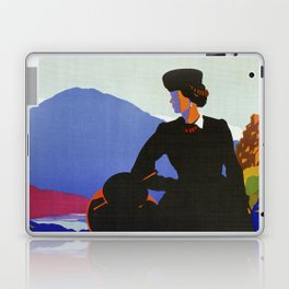 Abruzzo Italian travel Lady on a walk Laptop & iPad Skin