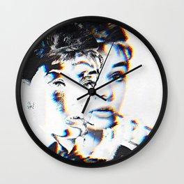 Audrey Hepburn Glitch Wall Clock