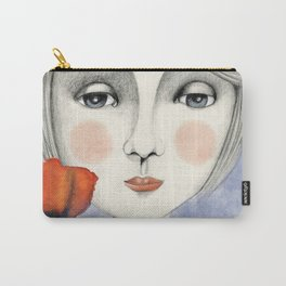 young thinking woman Carry-All Pouch