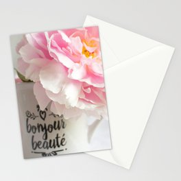 bonjour beaute' Stationery Cards