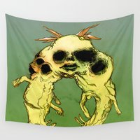 twins Wall Tapestries featuring TWINS by ASHES