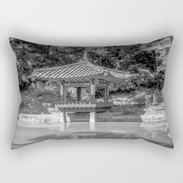 The aeryeonjeong in the Aeryeonji Pond of the secret garden - Changdeokgung Palace Rectangular Pillow