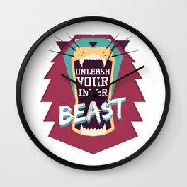 Unleash Your Inner Beast Wall Clock