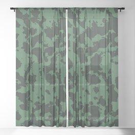 Military pattern Sheer Curtain