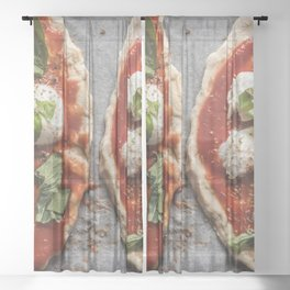 Pizza Sheer Curtain