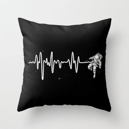 Space Heartbeat Throw Pillow