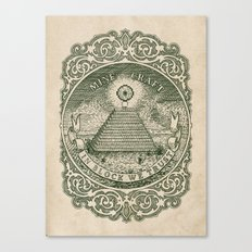 In Block We Trust (Green) Canvas Print