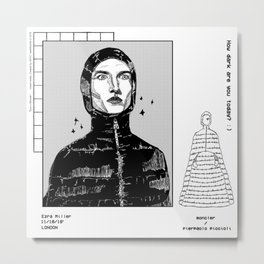 EzraxMoncler Metal Print