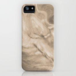 Pantone Hazelnut Flowing Pearlescent Haze, Opalescent Fluid Art iPhone Case