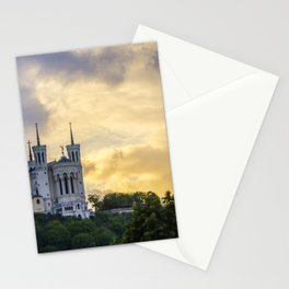 Sunset over Lyon Stationery Cards