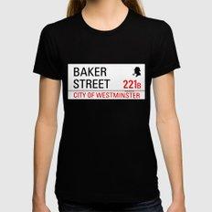 221B Baker Street MEDIUM Black Womens Fitted Tee