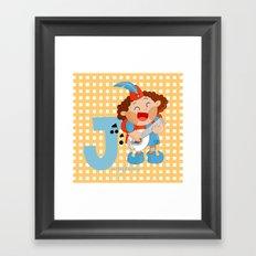 j for jongleur Framed Art Print