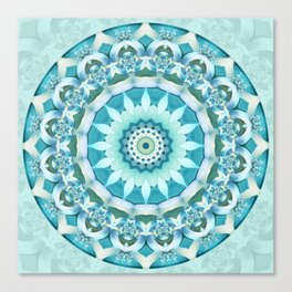 Aquamarine Mandala Canvas Print