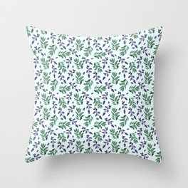 Watercolor hand drawn graphics. Throw Pillow