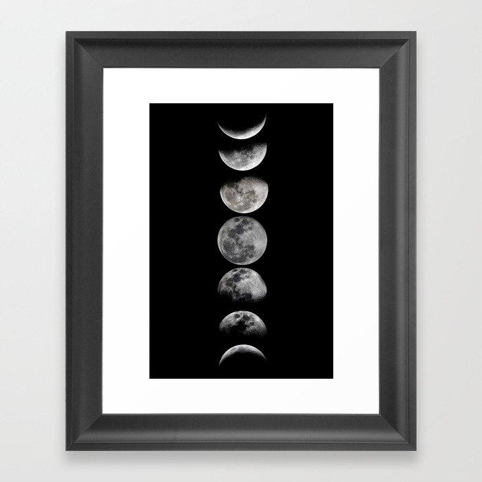 Phases of the Moon Gerahmter Kunstdruck