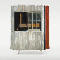 Barn window Shower Curtain