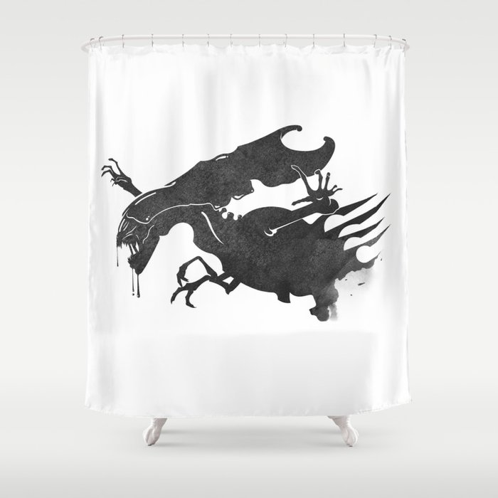 The Queen Alien Shower Curtain By Dwatson