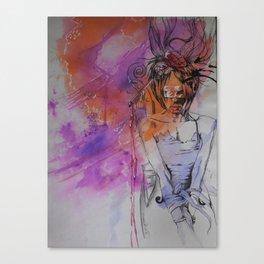 Music captivates Canvas Print
