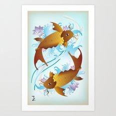 Twin Koi Art Print