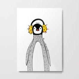 Edwardo, The Penguin Metal Print