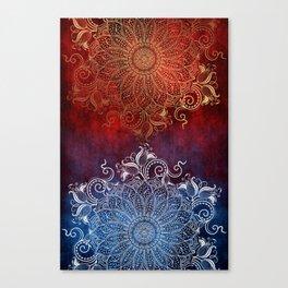 Mandala - Fire & Ice Canvas Print