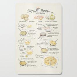 Tortilla de patatas recipe in Spanish Cutting Board