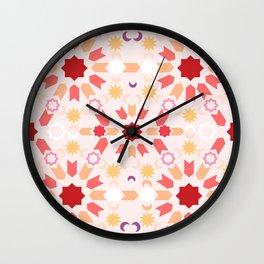 Summer Arabesque Wall Clock