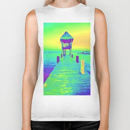 Colorful Dock In Mexico Biker Tank