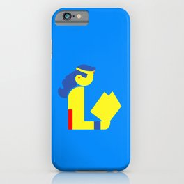 Wonder Lady Reading iPhone Case