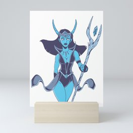 Woman warrior with scepter Mini Art Print
