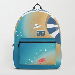 Isolated Island of Happiness Backpack